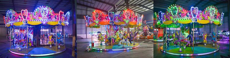 amusement park carousel, kids carousel ride
