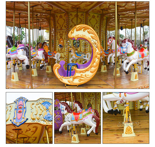 luxury carousel ride details-jasonrides