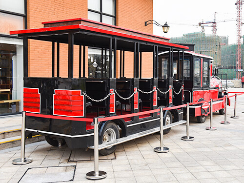 red trackless train for sale