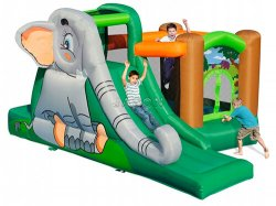 Happy Elephant Inflatable Castl